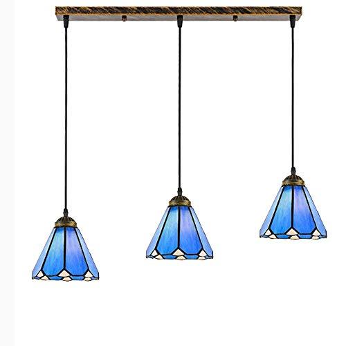 DGHDFH * Bar im Landhausstil im amerikanischen Landhausstil Kronleuchter Küchentisch Mediterrane Lampen (Größe: B) ●