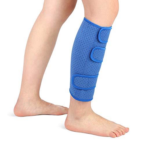 Wadenbandage muskelfaserriss, Kompressions Waden bandage Waden Kompression ohne fuß Neopren Unterschenkelbandage Verstellbar zur Linderung fester Waden, Muskelschmerzen Männer Frauen, Single(Blau) -