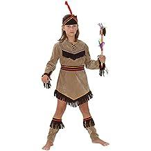 Disfraz de niña de Piel Roja del Lejano Oeste. 6 - 9 años