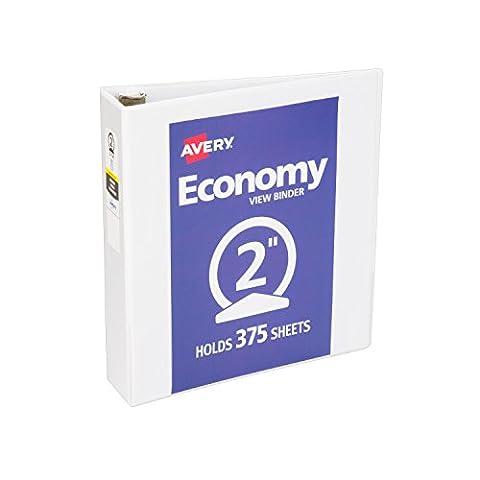 Economy Vinyl Round Ring View Binder, 2