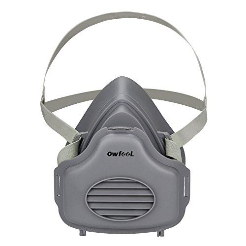 Owfeel Atemschutzmaske/Halbgesichtsmaske mit verstellbarem Riemen BZW Ersatzfilter aus Baumwolle (Respirator Mask) -