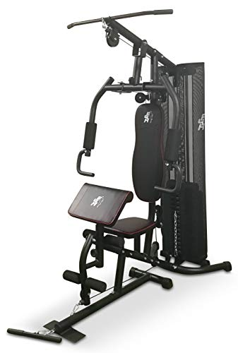 Fit4Home 7080A (68 KG) Multi Gym Home Gym Equipment Workout Station Home Workout... (Gunmetal Black)