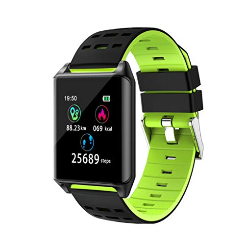 Happy Event Herzfrequenz aktivität Schlaf musiksteuerung smart Watch Armband für Kinder Frauen männer (Grün) Auflösung Wanduhr