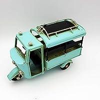 DynaSun Art - Modelo de moto de época vintage - Material metal - Modelo de colección de estilo retro - En escala 1:16 cm