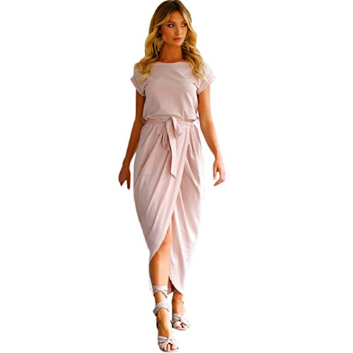 fc1cf609403 Maxi De Boho Soirée Longue Robes Robe Plage Longue robes Manadlian Rose  Femmes qAw8TAC