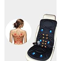 Display4top Vibrateur de vibration de coussin de siège de massage de siège de vibration de pour le dos masseur / chaise de massage de bureau à la maison avec la fonction de la chaleur,Fiche standard française