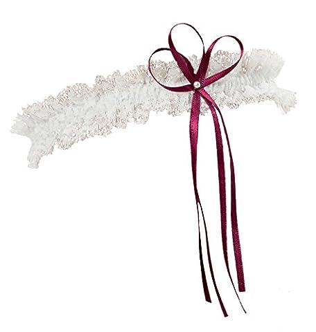 BrautChic Narrow ELEGANT Garter - Bridal Wedding Lace Garter -