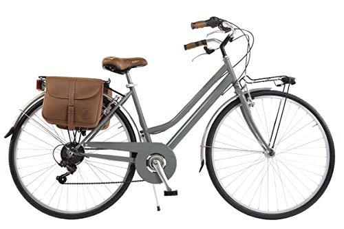 Via Veneto by Canellini Bicicleta Bici Citybike CTB Mujer Vintage Retro Via Veneto Acero (Nata, 46)