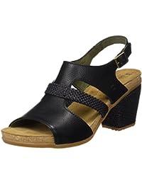 El Naturalista N5031 Soft Grain Mola, Zapatos de Tacón con Punta Abierta para Mujer