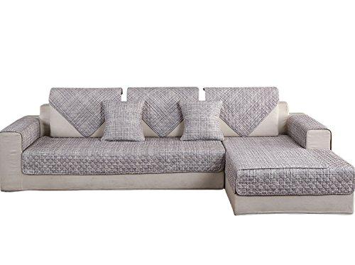 Hotniu copridivano trapuntato 1-pezzo cotone universale copri per sedia divano protector mobili copertura per penisola (chaise longue) sia a destra che sinistra, 90 * 140 cm, modello #jd