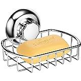 MaxHold Saugschraube Seifenkorb/Seifenhalter, Befestigen ohne Bohren - Edelstahl rostfrei - Küchen & Badezimmer Aufbewahrung -