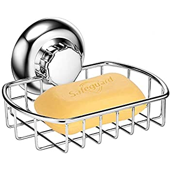 Maxhold No Drilling Suction Cup Soap Basket Vaccum