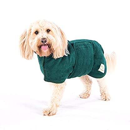 Ruff and Tumble Dog Drying Coat - Classic Collection (XXXS, Brick Red) 3