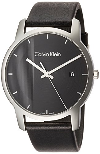 Calvin Klein Men's Analogue Quartz Watch with Leather Strap K2G2G1C1