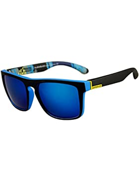 JAGENIE Gafas de sol cuadradas para hombre, para conducción al aire libre, deportes, pesca, etc. C7