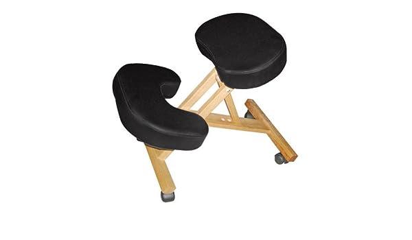 Kendan aston nero ortopedico ergonomico sgabello di ginocchio