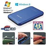 """Allcam USB 3.0 portable boîtier de disque dur externe pour ordinateur portable 2,5"""" SATA disques dur -bleu"""