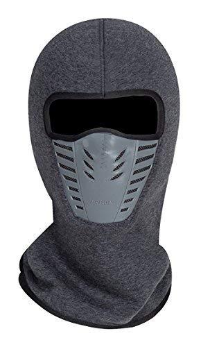 Winddichte Vollgesichtsmaske aus Fleece,Einheitsgröße,Unisex,Winterliche Outdooraktivitäten - Grau