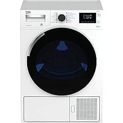 Beko DH10444PX1W Autonome Charge supérieure 10kg A++ Blanc sèche-linge - Sèche-linge (Autonome, Charge avant, Pompe à chaleur, Blanc, boutons, Rotatif, 118 L)