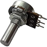 AERZETIX: 2 x Potenciómetro rotativo mono lineal 22k? 100mW eje liso 6mm 13.5mm Ø16x8.5mm 160V C14981