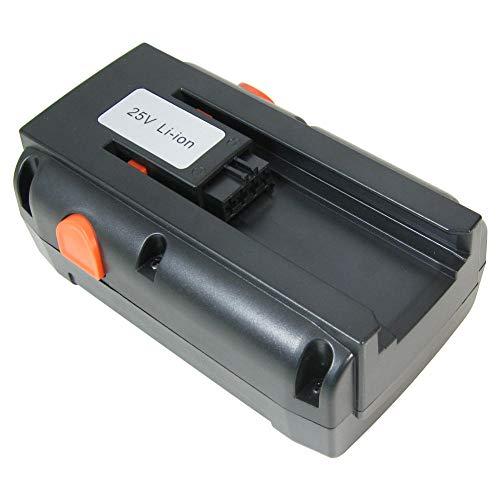 Hochleistungs Li-Ion Akku 25V / 4000mAh ersetzt Gardena 04025-20, 8838, 4025-20 für Gardena Spindelmäher 380LI 380C 380EC