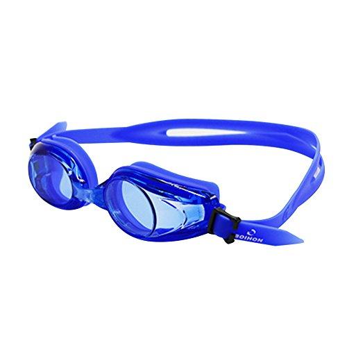 xMxDESiZ Wasserdichte mit Einstellbarer Schutzbrille für Erwachsene Schwimmbrille Blau