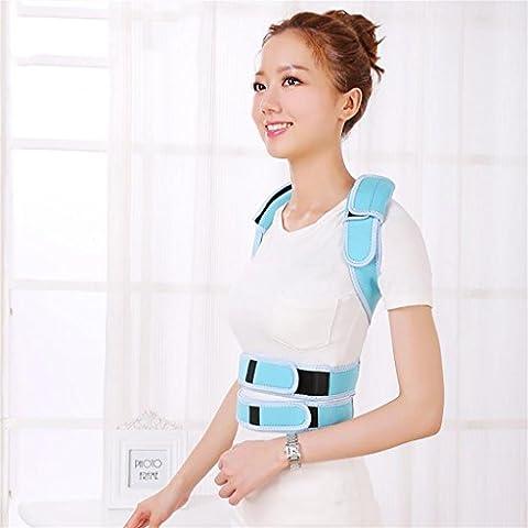 G&M Adulto schiena postura Brace correttore spalla Band cintura postura corretta cinghia di sostegno per , blue , xl