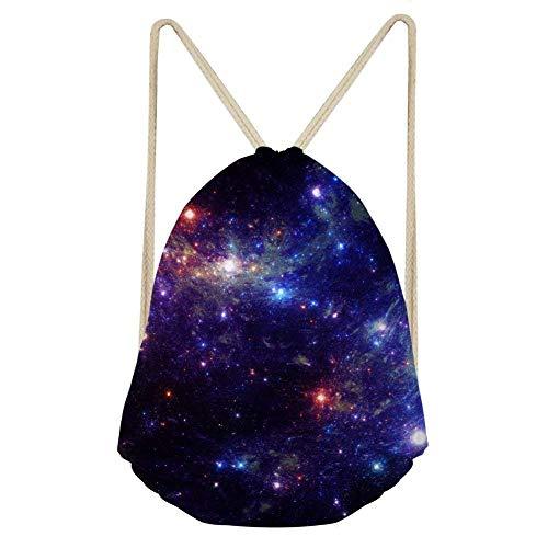xy Drawstring Backpack Cinch Sackpack for Shopping Sport Yoga Women Girl Shoulder Bag Star 13 ()