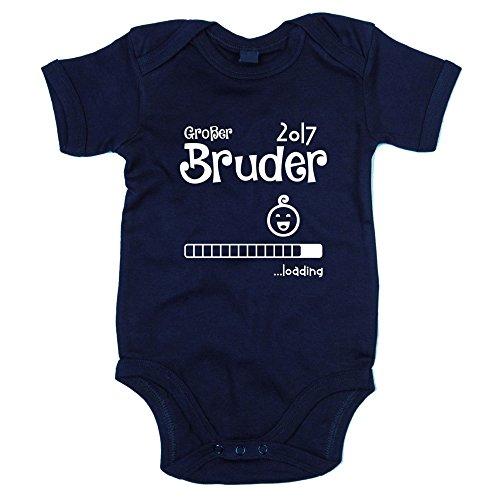 Baby Body - Großer Bruder 2017 ...loading - von SHIRT DEPARTMENT, dunkelblau-weiss, 68-80