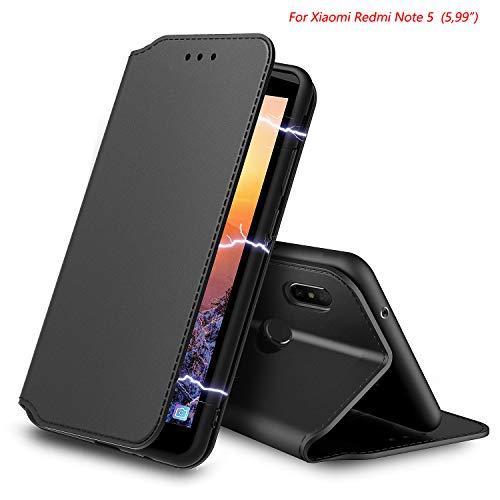 571cd60463b66 AURSTORE Coque Xiaomi Redmi Note 5, Housse Etui Portefeuille pour Xiaomi.