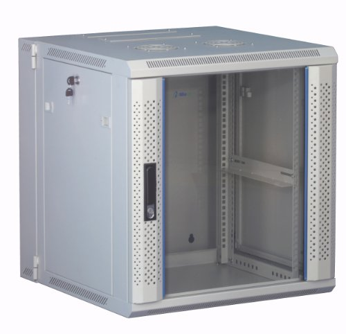 "Preisvergleich Produktbild 12 HE 19 Zoll - 19"" Wandschrank mit Glastür (BxTxH), weiß 600x600x635mm - NEU! 19Power GmbH"