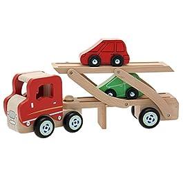 Teorema 40501 – Camion Trasporto Auto in Legno con 2 Macchinine Incluse