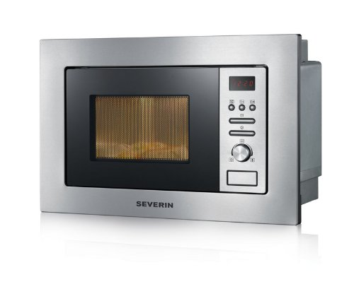 Severin MW 7880 Mikrowelle / 800 Watt / 20 Liter Garraum / Edelstahl-gebürstet schwarz