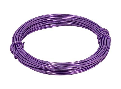 Corderie Italiane 006039969 fil aluminium, lavande, 2 mm, 12 m