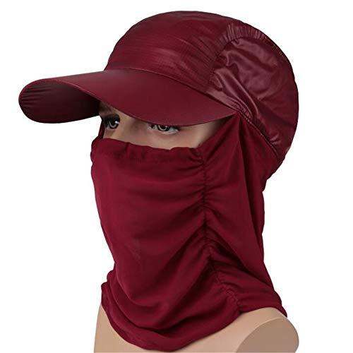 WXH 2 STÜCKE Sun Caps Flap Hats Uv Schutz Hochwertige Stoff Perfekte Hautschutz für Radfahren Wandern Angeln Garten Jagd Outdoor Camping,jujube Serie Mesh Cap