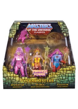 He-man She-ra Masters of the Universe Classics Exclusive Action Figure 3 Pack Star Sisters Starla Jewelstar Tallstar Mattel by Mattel (English Manual) (Spielzeug Shera)