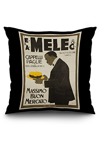 mele-and-ci-cappelli-paglie-vintage-poster-artist-laskoff-italy-c-1902-20x20-spun-polyester-pillow-c