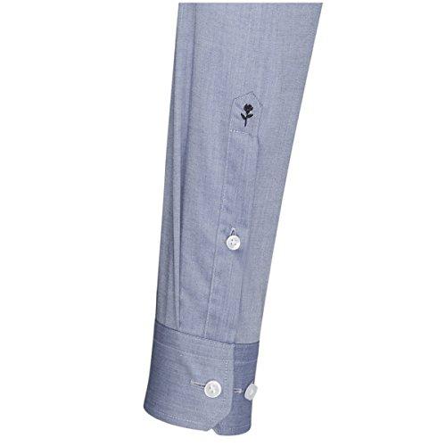 Seidensticker Herren Businesshemd Tailored Bügelfrei Blau
