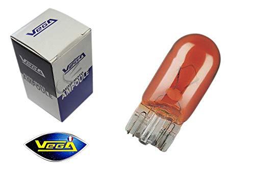 Ampoule Vega® clignotant WY5W W5W T10 teinté masse orange 12V