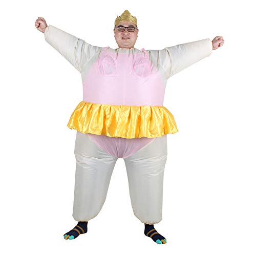 Aufblasbares Kostüm Fatsuit Ballerina Fasching Karneval (Teenager Ballerina Kostüm)