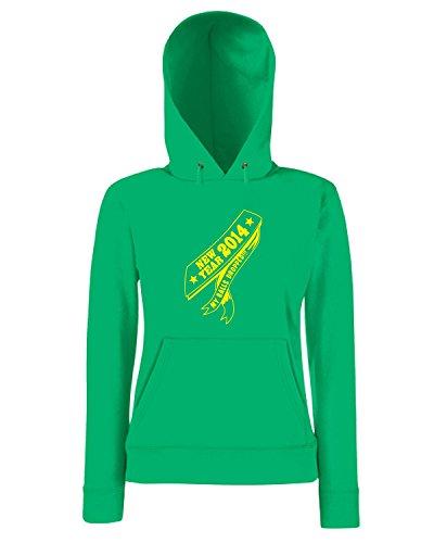 T-Shirtshock - Sweatshirt a capuche Femme FUN0303 12 31 2013 New Year Ball Drop T SHIRT det Vert