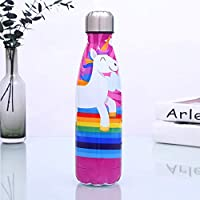 ZXZXZX Stainless Steel Water Bottle 500ml, Vacuum Insulated Metal Water Bottle for 12 Hours Hot, 24 Hours Cold Drinks, Sports Flask Great for Work, Gym, Travel - 500ml