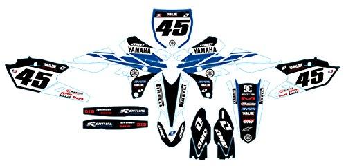 Yamaha YZ 250F 450F 2014blau Moto MX Aufkleber Sticker Kit (nicht Oem) (Yz Yamaha Moto)
