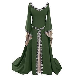 K-Youth® Carnaval Vintage Vestido de Traje Renacentista Medieval Vestido Largo de Estilo Victoriano Largo Gotico Vestido… 15