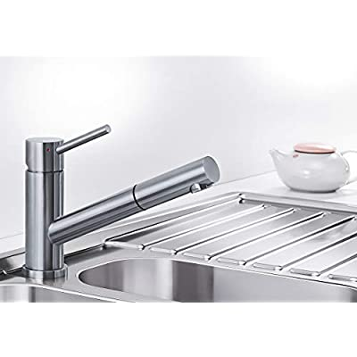 Blanco Altura-S 518719 High-Pressure Tap Fitting Silver Brushed Stainless Steel