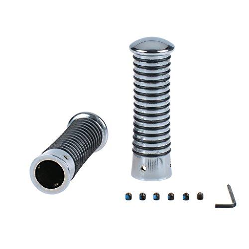 Poignées avec anneaux en O fabriqué Vis inclus Chrome/noir 24-26/24-26 115 mm Vespa PK 125 vam1t - Transmission automatique 84-87