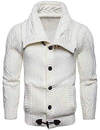 BESBOMIG Cardigan da Uomo Maglione da Uomo Pullover Uomo Sweatshirt Sweater  - Manica Lunga Maglieria Moda 1fb49133ea8