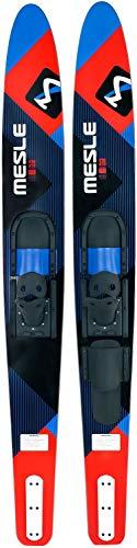MESLE Comboski Strato 170 cm mit B2 Bindung, Wasser-Ski bis 120 kg, für Anfänger und Fortgeschrittene, blau rot