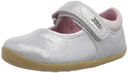 Bobux 460780, Mocassins fille Argent (Silver Glitter Shiny)