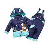 MissChild Tuta da Neve Ragazzi Ragazze Bambino 2 Pezzi Cappotto con Cappuccio + Pantaloni di Neve